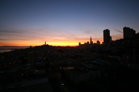 October 21 - Sunrise from Russian Hill