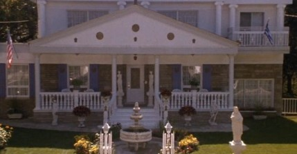 The actual house from My Big Fat Greek Wedding (note the blue and white Greek paint job)